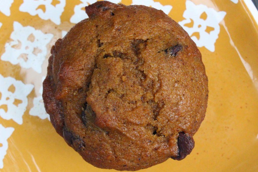 moist pumpkin muffin